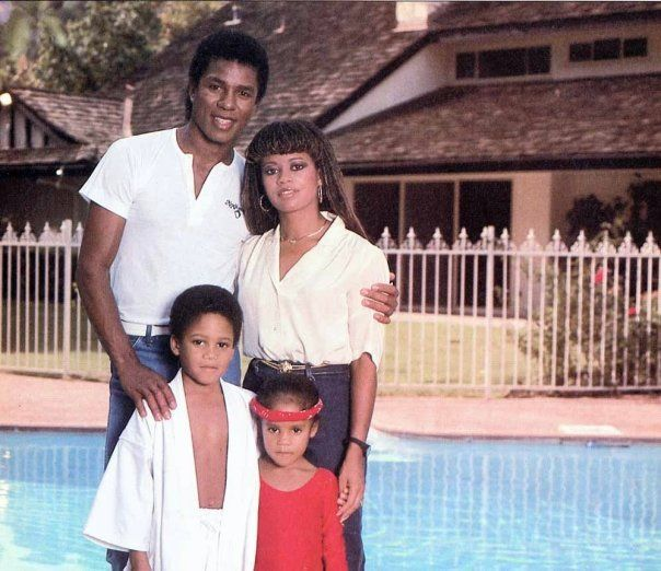 jermaine jackson with hazel gordy jermaine jackson ii and autumn jackson circa 80s