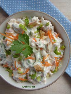 AranyTepsi: Zöldséges saláta maradék sült csirkéből