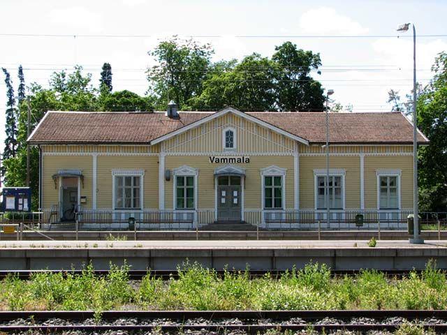 Vammala old railway station, Finland   Vammalan, entinen Tyrvään rautatieasema. Kuva: MV/RHO Jari Heiskanen 2007