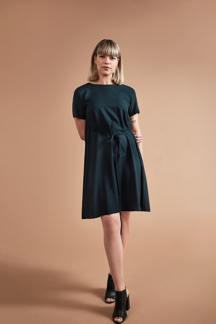 Rice Paper Label Dress- Ethically made in Indonesia.     Included in Sustainable Outfits post on sustainable alternatives.