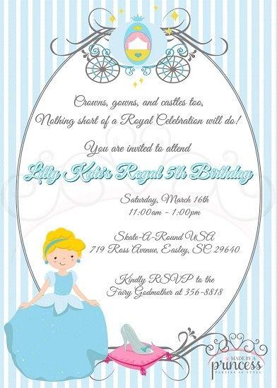 Cinderella Royal Ball Invitation {Made by a Princess Parties in Style}Take 20% printables using PUTAPINONIT at checkout