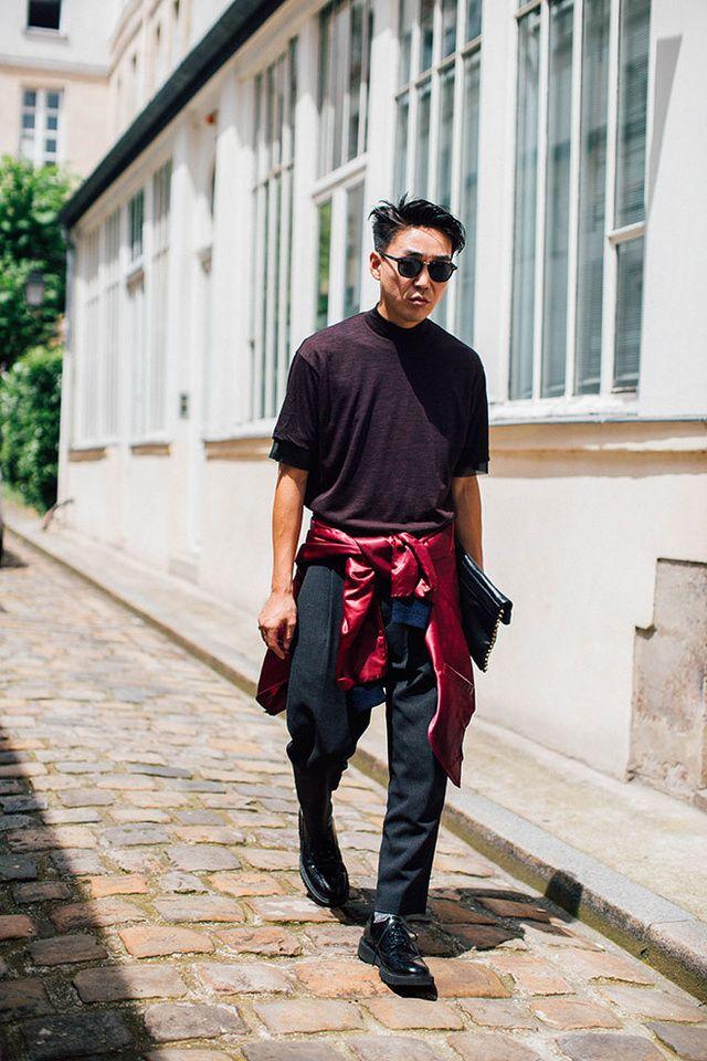 Découvrez les meilleurs looks de rue pris sur le vif par Jonathan Daniel Pryce à la sortie des défilés homme printemps-été 2017 à Paris