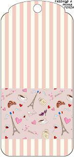 Paris Romântico - Kit Completo com molduras para convites, rótulos para guloseimas, lembrancinhas e imagens!