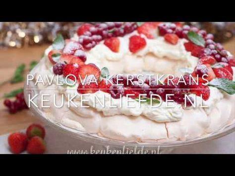 Pavlova kerstkrans - YouTube