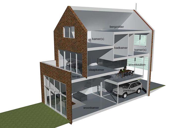 Binnenkant huis wonen pinterest house en huizen for 3d huis tekenen