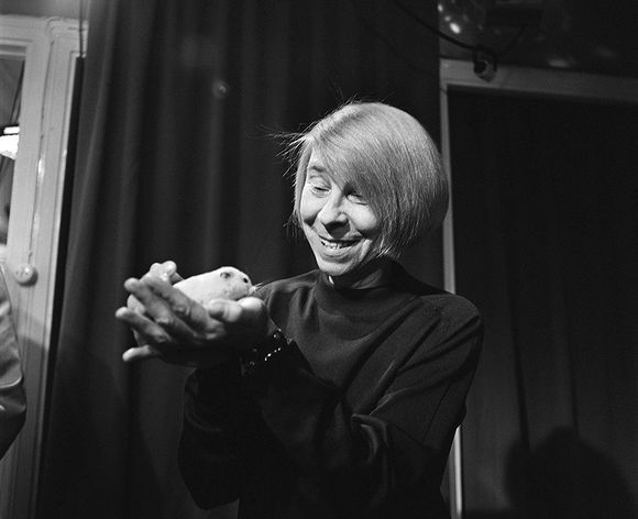 The author and artist Tove Jansson photographed in 1974.