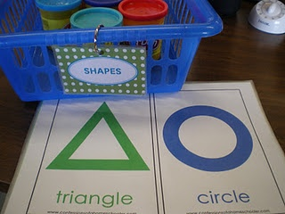 Shape mats. Let kids use play dough to outline the shape.