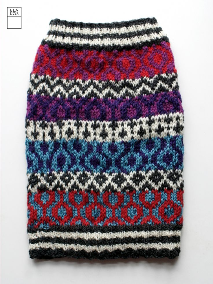 A tube (neck warmer) for a little girl. Could serve as a skirt, too.