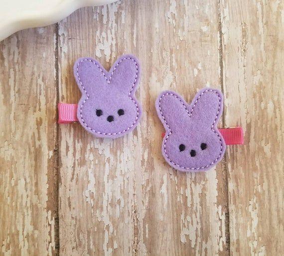 Easter headband faux leather bunny hair clips bunny headband Easter hair clips spring hair clips nylon headband girl hair accessories