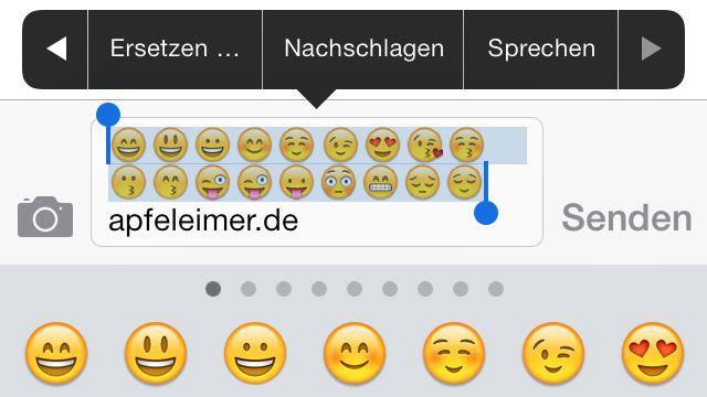 """""""Grinsender Kackhaufen"""" oder mein Emoji Smiley kann sprechen! - http://apfeleimer.de/2013/11/grinsender-kackhaufen-oder-mein-emoji-smiley-kann-sprechen - iPhone Emoji Smileys können sprechen: """"Fröööhliches Gesicht mit geöffnetem Mund"""" und """"Grinsender Kackhaufen""""! Um Smileys und andere kleine Emoticons in iMessage und WhatsApp zu verschicken hat vermutlich nahezu jeder iPhone und iPad User die Emoji-Tastatur aktiviert (ans..."""