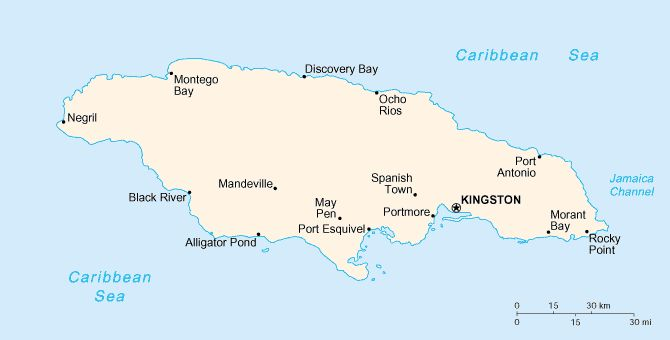 Jm-map - Jamaica - Wikipedia, the free encyclopedia