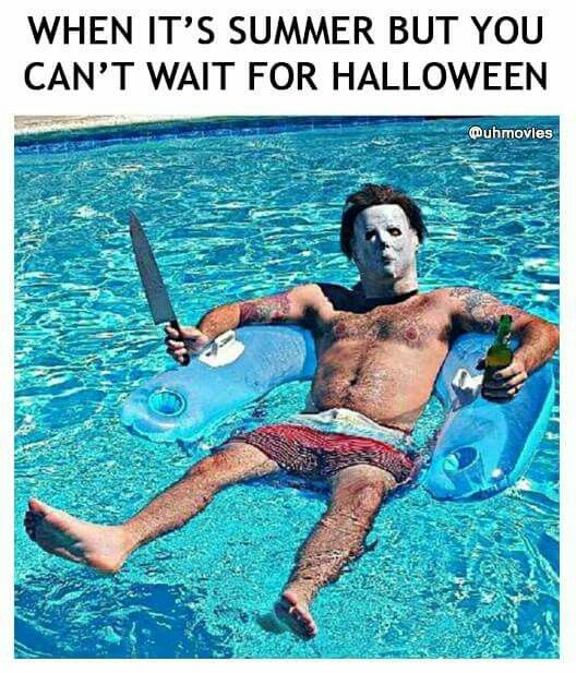 Haha, two of my favorite things combined: summer and Halloween :D