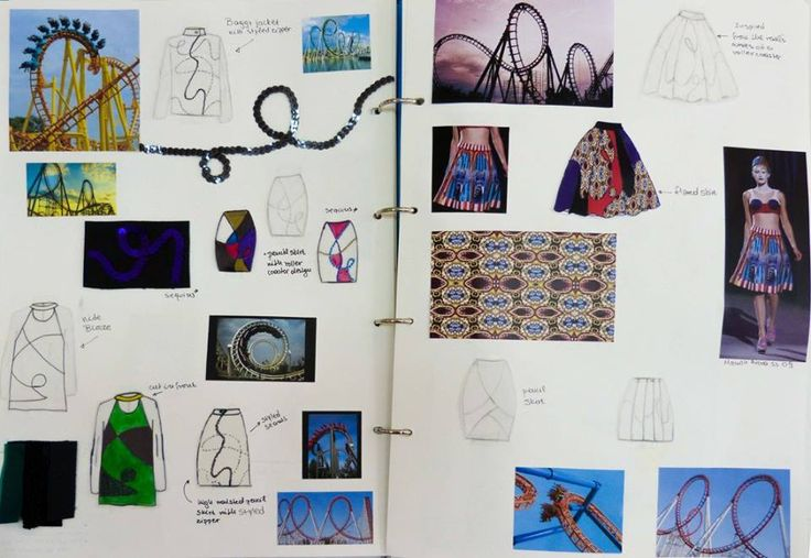 Pages from the sketchbook, inspiration the rails of the roller coasters.  #Mega_Trend_Offbeat_Funfair_Sketchbook