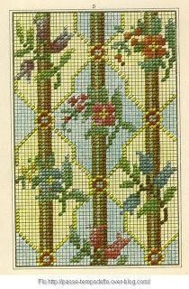 Free Easy Cross, Pattern Maker, PCStitch Charts + Free Historic Old Pattern Books: Sajou No 303