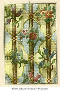 Free Easy Cross, Pattern Maker, PCStitch Charts + Free Historic Old Pattern Books: Sajou No 303