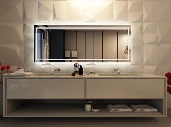 Die besten 25+ Spiegel mit beleuchtung bad Ideen auf Pinterest - badezimmer spiegelschrank mit beleuchtung g nstig
