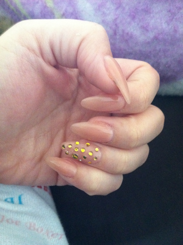 Nice and simple stiletto nails