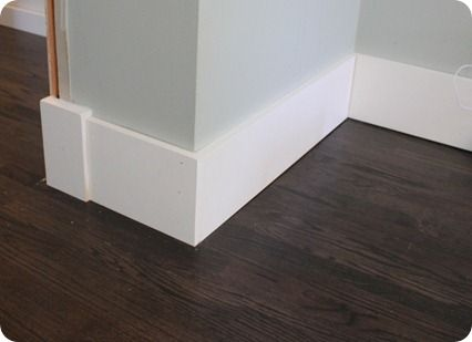 Flat plain baseboards 7 1 2 in bathroom pinterest Modern floor molding