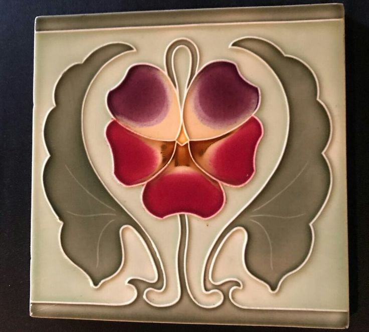 Originale Jugendstil Fliese art nouveau tile