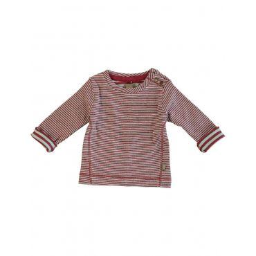 Bordeau/Muntkleurig gestreept T-shirt - Kidscase - Mister Monkey and Misses Butterfly - #monkeyandbutterfly #kidsfashion #kidscase #FW15 #webshop