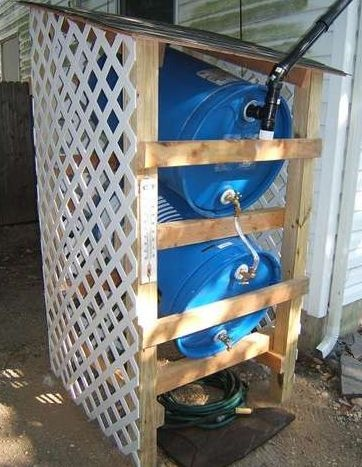 How to build a rain water collector  http://www.instructables.com/id/How-to-build-a-rain-water-collector/