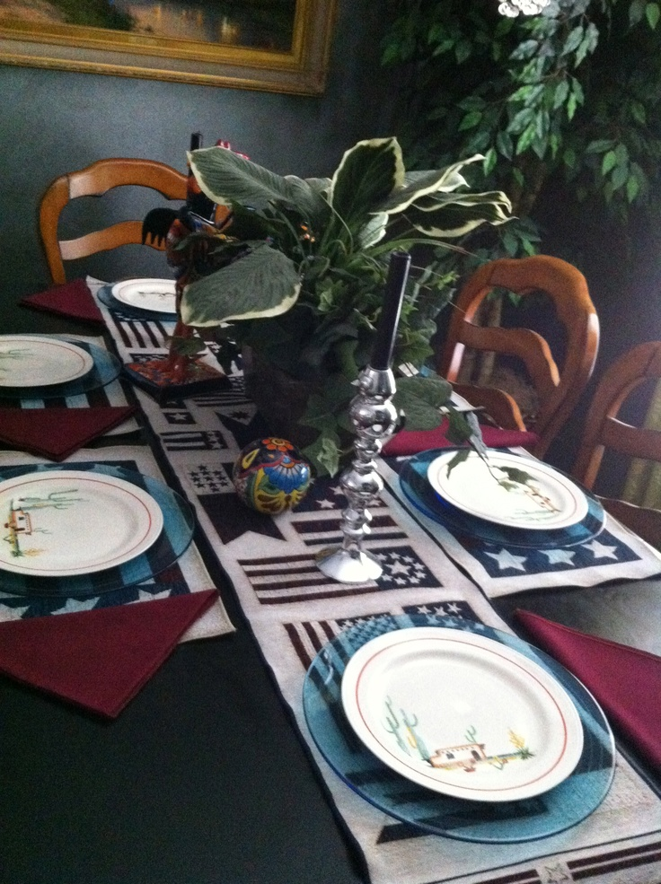 I wanted a Southwestern flair to my Holiday table...Solution Nautilus Dinnerware Arizona 1939 ...Done!