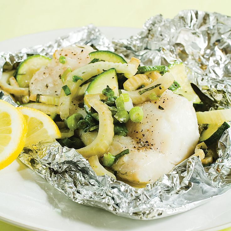 Foil-Roasted Cod with Herbed Vegetables Recipe - Cook�s CountryHerbs Vegetables, Fish Seafood, Vegetables Recipe, Cooking Country, Foil Roasted Cod, Sea Food, Favorite Recipe, Healthy Food, Foilroast Cod