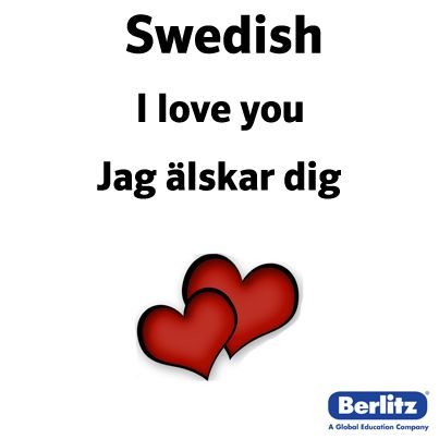 I love you in Swedish