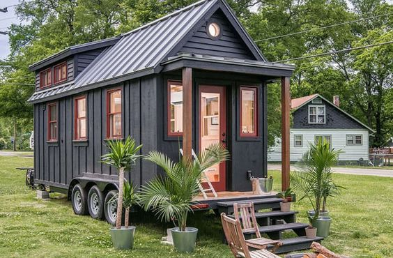 New Frontier Tiny Homes, Riverside tiny house, Tennessee, tiny house, green architecture, Scandinavian architecture, LED lighting, composting toilet, tiny spaces: