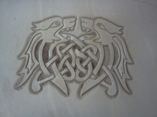 Celtic wolf tooling