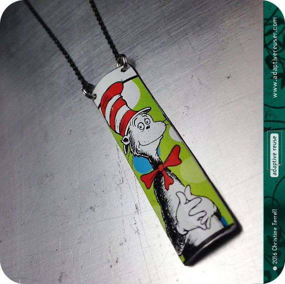 17 best images about tin jewelry on pinterest brooches for Cat in the hat jewelry