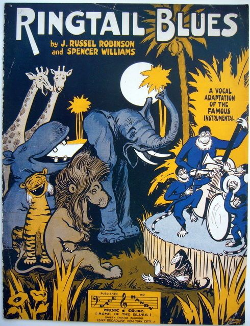 1918 RINGTAIL BLUES song JUNGLE JAZZ BAND J. Russell Robinson SPENCER WILLIAMS