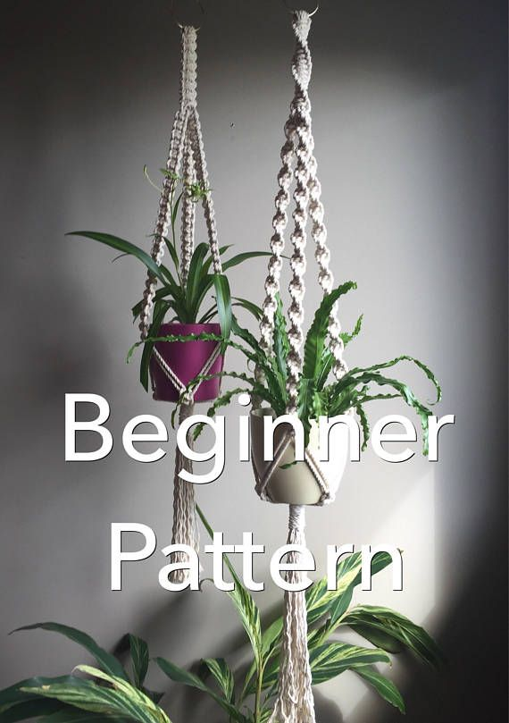 21 Best Macram 233 Pattern Macram 233 Patterns Images On Pinterest Macrame Patterns Plant Hangers