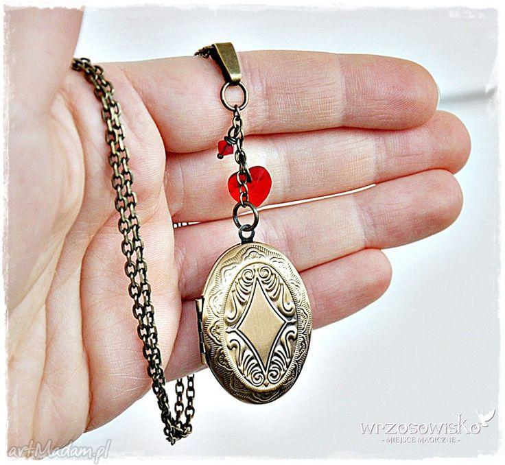 • wyjątkowe naszyjniki, biżuteria - sekretnik medalion ze