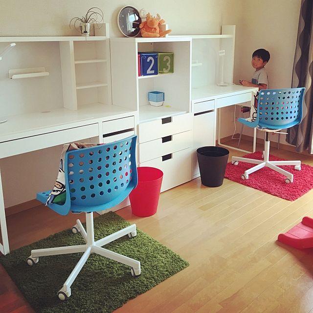 yu-kenさんの、My Desk,IKEA,子供部屋,兄弟おそろでについての部屋写真