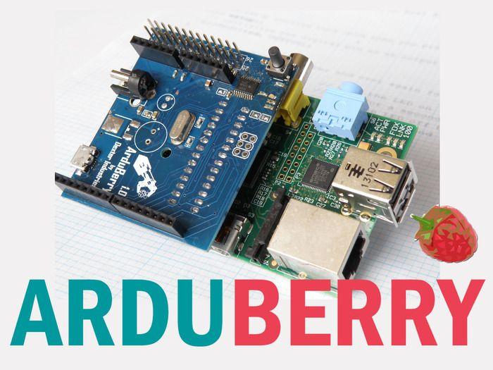 Arduberry réunit les shields Arduino et le Raspberry Pi par l'intermédiare d'une solution matérielle simple et peu coûteuse. Glissez, déposez votre code et c'est parti !