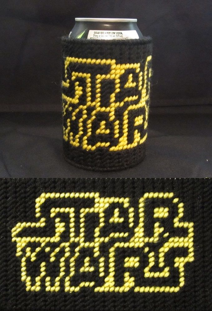Star Wars Soda Cozy Made From Plastic Canvas by Robert
