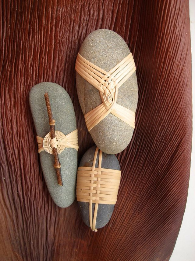 Japanese Basketry Knots. Cane Wrapped Rocks by Basketeer.   Art is a Way   Bloglovin'