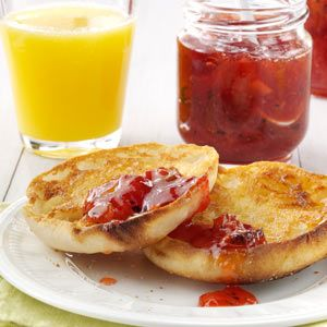 "Strawberry-Kiwi Jam Recipe- Recipes  ""My family always gives jams and jellies as gifts and everyone appreciates it. Strawberries and kiwi make a wonderful combination."" Kathy Kittell, Lenexa, Kansas"