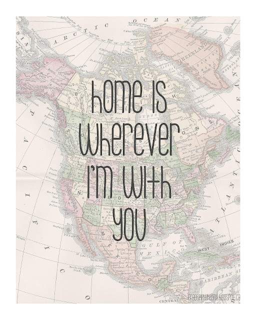 free print! Home is wherever i'm with you