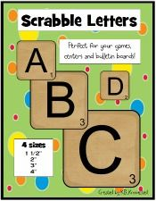 Scrabble Letters for Boggle