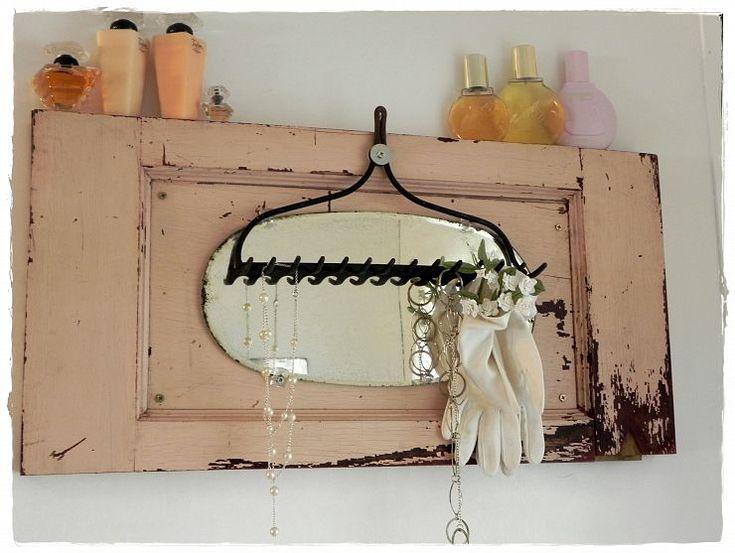 focal point: Vintage Mirrors, Decoration Idea, Bathroom Idea, Cupboards Doors, Focal Point, Vintage Bathrooms, Old Doors, Repurposed Vintage, Cabinets Doors