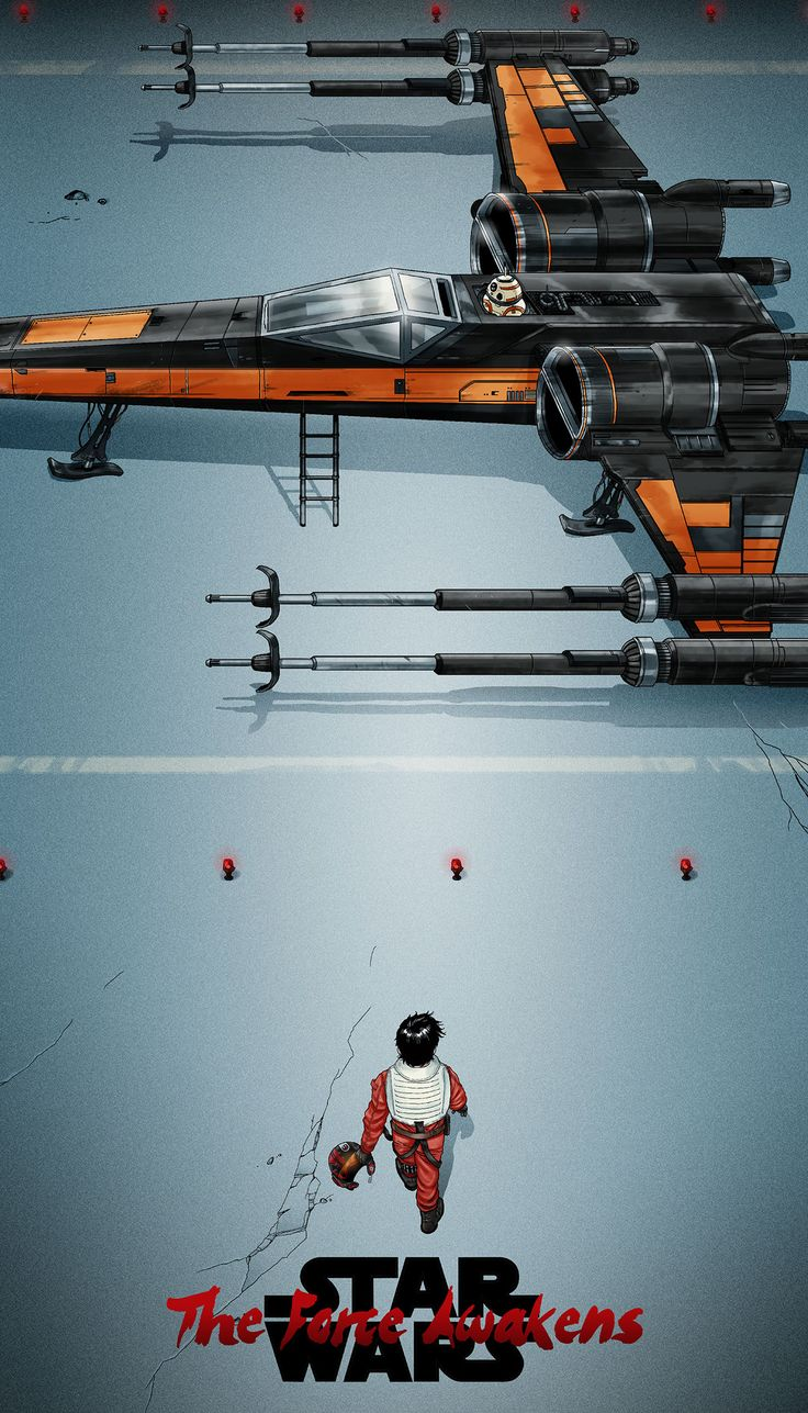 Poe Dameron approaches his X-Wing | Star Wars: The Force Awakens