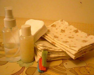 Criações Caseiras: Limpar o rabo do bebé