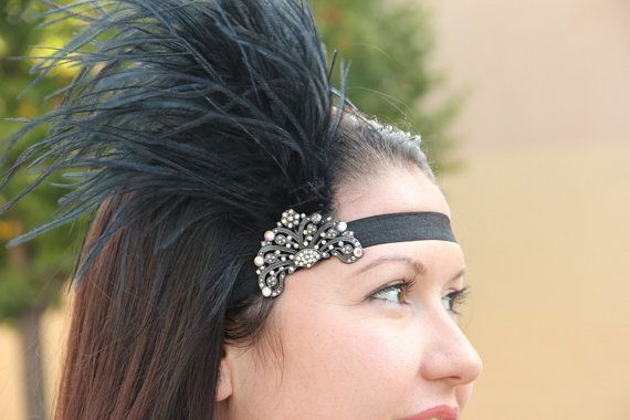 Hollywood Screen Queen simple black 1920s flapper by Hairfetti, $32.50