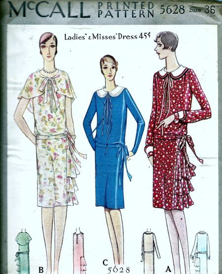 McCall 5628; ©1928;  Ladies' & Misses' Dress
