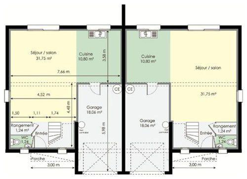 10 best MAISON Plan images on Pinterest Floor plans, Small homes - prix construction maison 150m2