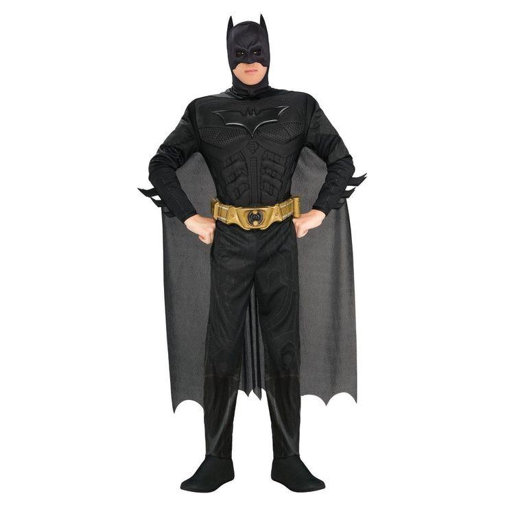 Men's Batman The Dark Knight Rises Muscle Chest Deluxe Costume X-Large, Size: XL, Black