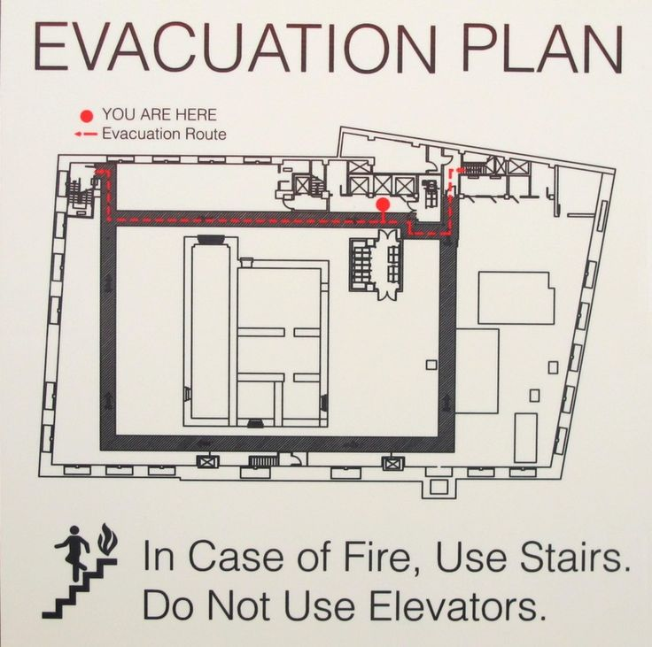 Sublimated Evacuation Map on Duck White Hardboard Matte Signage - evacuation plan templates