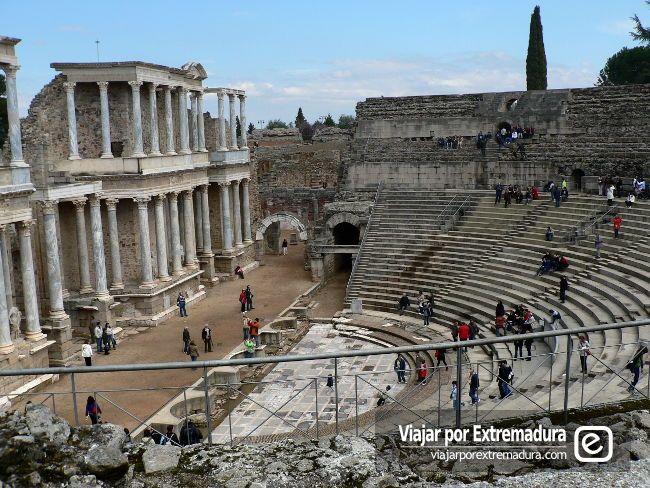 Turismo en Extremadura. Legado romano. Teatro Romano de Mérida